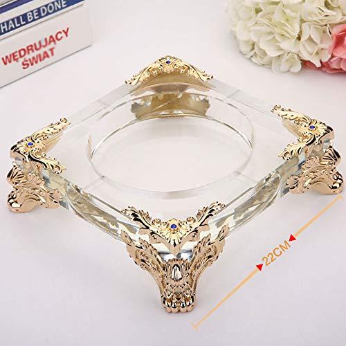 Czz Hochwertiger Aschenbecher, Kreativer Luxus-Aschenbecher Aus Kristallglas, Stilvoller Europäischer Aschenbecher Für Den Haushalt,H,Aschenbecher