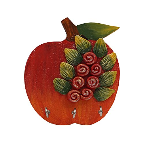999Store wall mounted beautiful Indian gifts Indian art painting handmade wooden crafted hand painted apple art key holder hanging hooks shelf hanger