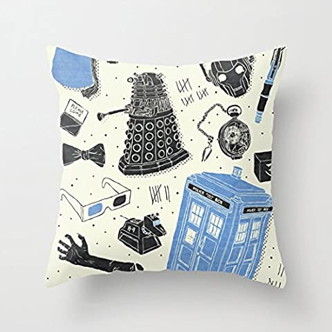 Home Style diylancas Cotton Linen Throw Pillow Cover Cushion Case Artifacts Doctor Who - 45 X 45 cm Square Design