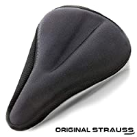 STRAUSS Unisex Adult ST-1302 Bicycle Saddle Seat Cover - Black, One Size