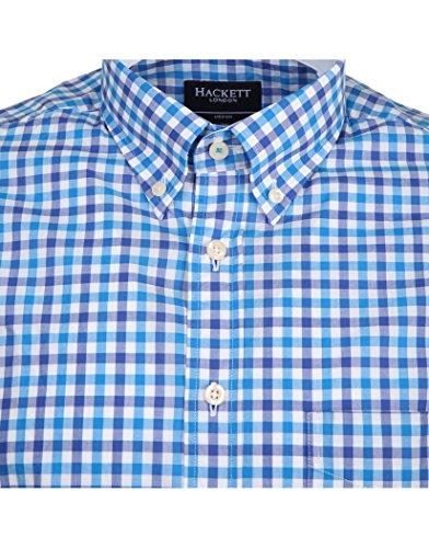 Hackett Two Colour Classic Gingham Mens Shirt blue