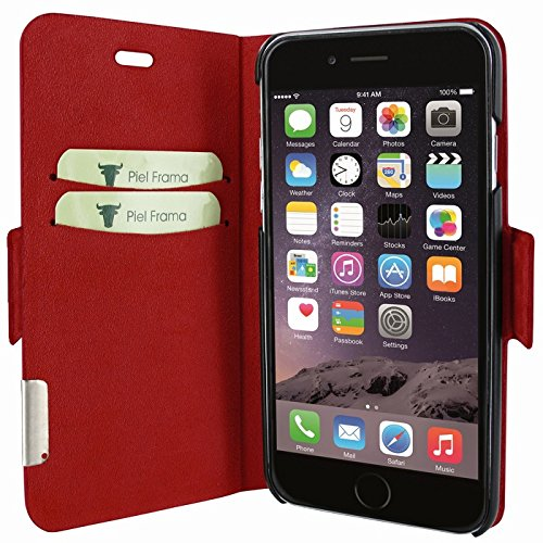 """Piel Frama """"FramaSlim"""" Lederhülle für Apple iPhone 7, verschiedene Farben Wild Crocodile Red"""