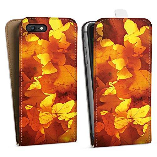Apple iPhone X Silikon Hülle Case Schutzhülle Herbst Blätter Laub Downflip Tasche weiß
