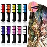 Haarkreide Kamm,Hair Chalk,Haarkreide-Set, 10 Farben - vibrierende,langlebige temporäre Schimmer Haar Farben Creme mit Kämme Haare Färben Kreide Haartönungen