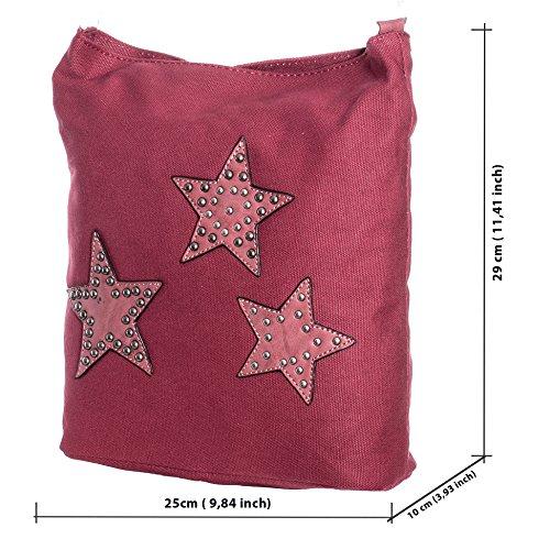Donna Borsa a tracolla piccolo con stella pelle borsa a tracolla tuc07 Grigio 07B