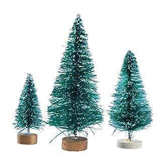 VORCOOL-Miniatur-Frosted-Sisal-Weihnachtsbume-Schnee-Kiefern-Bume-Pinsel-Bume-mit-Holzbasen-32-Pcs