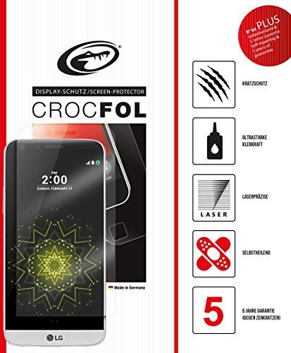 LG G5 / LG G5 SE Schutzfolie, 100% Abdeckung des kompletten Displays, Panzer-Folie, Ultraklarer Kratzschutz mit Anti-Shock, CROCFOL PLUS EDGE HD, DIE-FOLIE, kein Panzer-Glas Schutz-Glas oder Hart-Glas - besser, 2-Pack für das Original LG G5 / LG G5 SE, Hergestellt in Deutschland