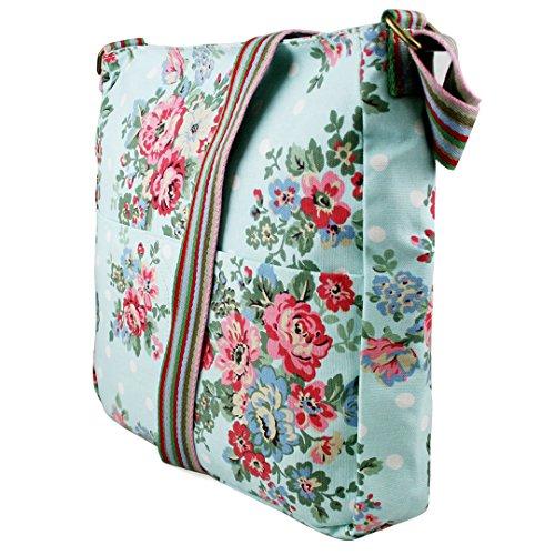 a7766f10edad5 ... Miss Lulu Damen Blumen Leinwand Schultertasche Umhängetasche Cross Body  Messenger Bag Schule Satchel Tasche Blume