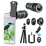 Best Smartphone Camera Lenses - Telephoto lens kit,4 in 1 Cell Phone Camera Review