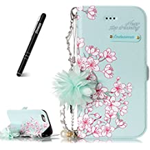 Slynmax iPhone 6 Plus Phone Case, iPhone 6s Plus Case Wallet, [Florid Series] Premium PU Flip Folio Leather Cell Phone CaseShockproof + 1* Stylus Pen
