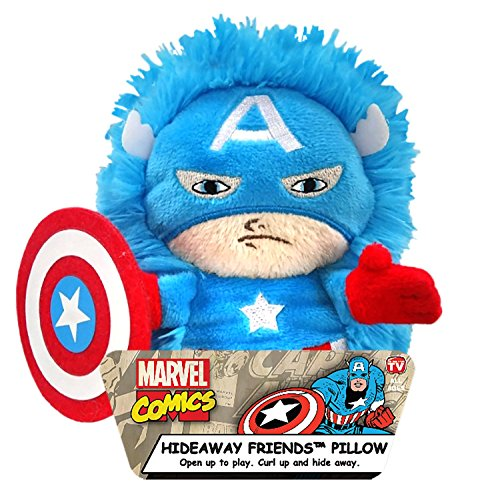 Marvel Captain America Plüsch Hideaway Charakter Kissen, 12,7cm