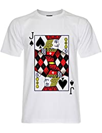 PALLAS Men's Jack of spades Playing Cards T-Shirt -PA261