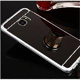 Sycode Moda Specchio Riflessione Morbida Bumper Ultra Sottile TPU Custodia Copertura Mirror Caso per Samsung Galaxy S8 Plus-Nero
