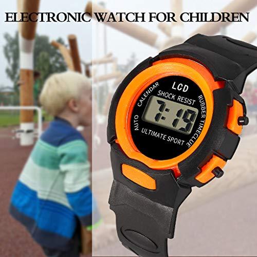 6c1506947dda Lomelomme Reloj Niño Reloj de pulsera electrónico electrónico para niños