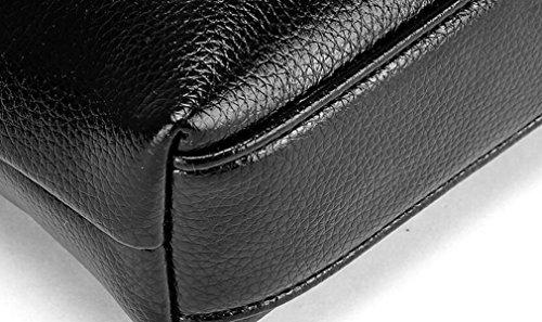 Beutel-Schulterbeutel Der Männer Beiläufige Art Und Weise Schiefes Kreuzpaket-Leder-Aktenkoffer Große Kapazität Black