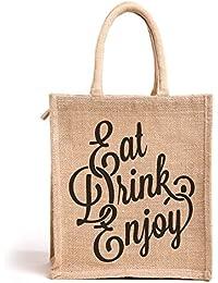 H&B Unisex Multipurpose Waterproof Jute Lunch Bags
