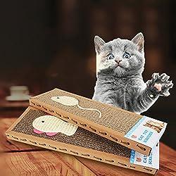 Postes Rascadores para Gatos de Cartón Corrugado
