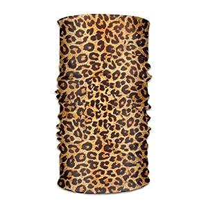 GHEDPO Stirnband Leopard Print Headwear Bandanas Seamless Headscarf Outdoor Sport Headdress Running Riding Skiing Hiking Headbands