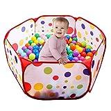 UClever Faltbar Bällebad Ballpool Bällepool für 1-3 jährige Baby Kinder (100CM)