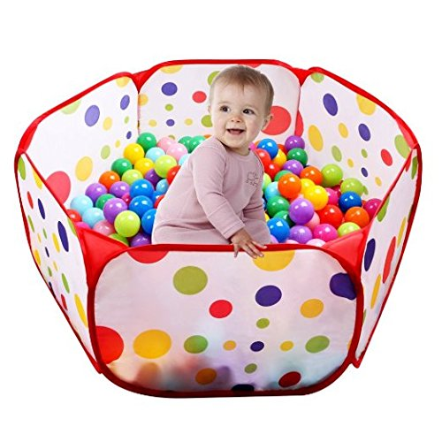 Uclever piscina di palline ball pit pool bambini tenda gioca piscina per bambini pieghevole pop-up palline non incluse, 100cm