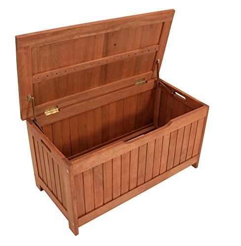 Kissenbox mit Deckel aus Eukalyptus Holz, 88cm - 2