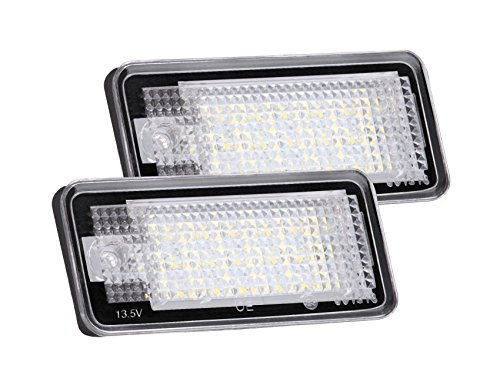 LED Kennzeichenbeleuchtung für Audi A3 A4 A6 A8 S6 Q7 RS4 RS6 usw, 2 Stück, von AGPTEK