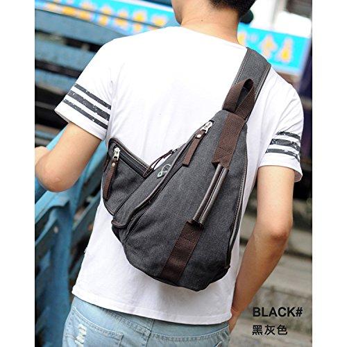 Outreo Vintage Schultertasche Brusttasche Herren Umhängetasche Vintage Messenger Bag Kuriertasche Herrentaschen Canvas Taschen für Sport Reisetasche Sporttasche Beige