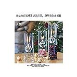 Creativa Lámpara De Aceite De Vidrio Transparente Sala De Lectura Decoración Luminosa 22cm Quemador De Queroseno