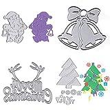 Zuanty 14 Weihnachtsbaum Weihnachtsmann Glocke Stanzform für DIY Scrapbooking Tool Card Produktion