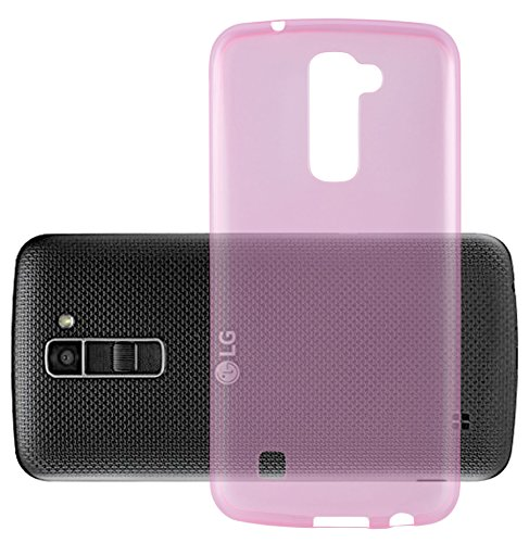 Preisvergleich Produktbild Cadorabo Hülle für LG K10 2016 - Hülle in TRANSPARENT PINK – Handyhülle aus TPU Silikon im Ultra Slim 'AIR' Design - Silikonhülle Schutzhülle Soft Back Cover Case Bumper