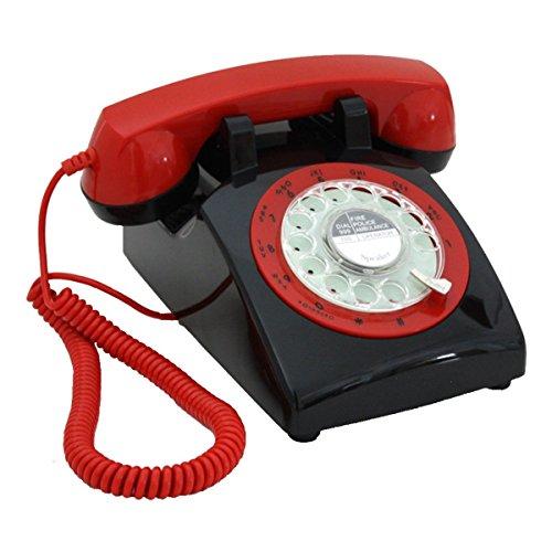 Telefon American Classic Vintage Karussell ABS Rotary Zifferblatt Retro Antike Büro Home Telefon Büro Landung Maschine Metallic Glocke -