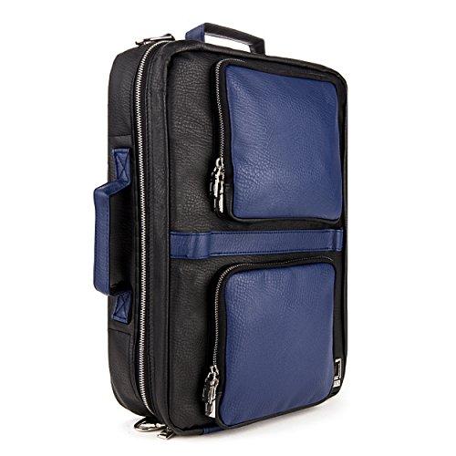 lencca-quadra-4-in-1-backpack-messenger-briefcase-tote-bag-for-up-to-156-inch-laptops-royal-black