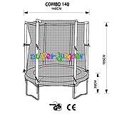 Super Jumper | Combo Trampolin 140 cm mit Sprungmatte, Sicherheitsnetz und Randabdeckung | Indoor...
