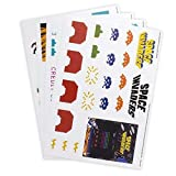 Space Invaders Gadget Stickers, Vinyle, Multi, 15 x 21 x 1 cm