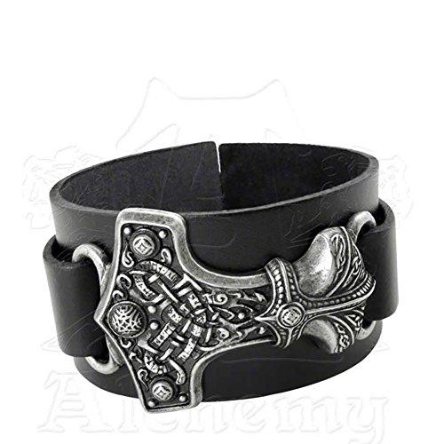 thunderhammer nordischen Gott Leder Armband von Alchemy Gothic von Alchemy metal-wear