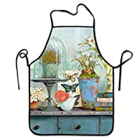 BetterShopDay BBQ Grill Apron - Funny Apron - 1 Size Fits All Chef Apron - Bees and Flowers