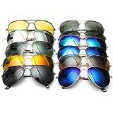 UV400 polarizadas las gafas de sol de aviador espejo gafas de Metal.