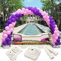 Idea Regalo - Set di Accessori Supporti Struttura per di Arco Colonna Palloncini Balloons 2 Basi 10 Tubo 75 Connettori per Decorazioni Festa di Compleanno Nozze Anniversario Eventi Natale