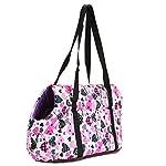 Pet Handbag Dog Canvas Carrier Bag Foldable Washable Travel Carrying Shoulder Bag for Small Medium Pets (S, White) 11