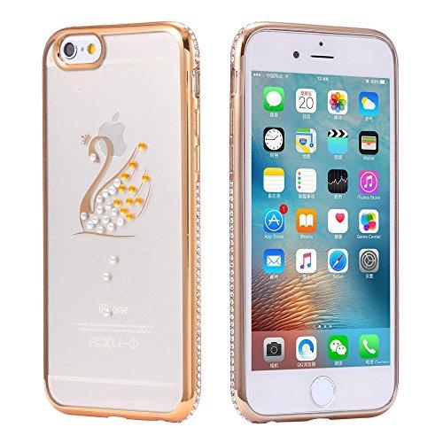 ECENCE APPLE IPHONE 6 6S (4,7) SLIM TPU CASE SCHUTZ HÜLLE HANDY TASCHE COVER TRANSPARENT DURCHSICHTIG CLEAR 12020501 Gold Schwan