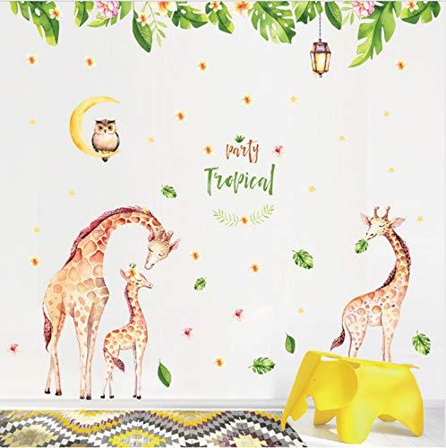 HHKX100822 Wandaufkleber Giraffe Kinderzimmer Wohnkultur Wandaufkleber DIY Cartoon Tier Baby Kinderzimmer Dekoration Poster 160 * 180 cm