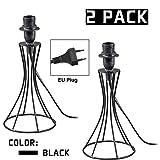 OYGROUP Black Chimney Leuchter mit EU-Stecker Geeignet für E14 Lampenschirm Tischlampe Schreibtischbeleuchtung Beste Leuchter