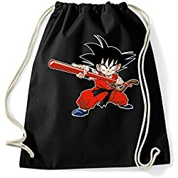 35mm - Mochila / Bolsa Songoku Dragon Ball - Bag/Backpag, NEGRA