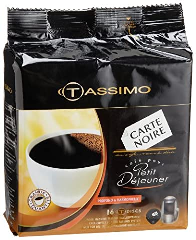 Carte Noire Petit Dejeuner Coffee, T-Discs For Tassimo Coffeemakers, 16-Count