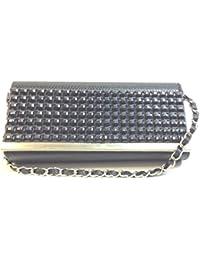 DIETZ Clutch Abendtasche 24,5x12x4cm schwarz