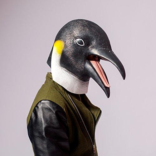 PartyCostume Deluxe Neuheit-Halloween-Kostüm-Party-Latex-Tierkopf-Schablone Masken Der Pinguin