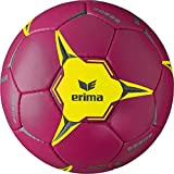 Erima Ballon de Handball Mixte Adulte, Berry/Jaune, Taille : 2