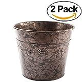 Newsbenessere.com 51AnJlJrnhL._SL160_ T4U, bei vasi rotondi in cemento serie Rachel per cactus e piante grasse, vasi da fiori, fioriere, contenitori, vasi per finestre