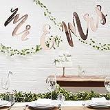 Hochzeits - Girlande Mr. & Mrs.in rot-gold 'Beautiful Botanics Serie' - Länge 1,5 Meter