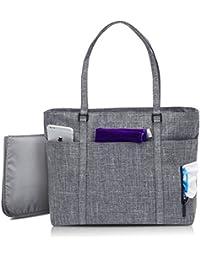 NiceEbag Baby Diaper Bag Nappy Bag With Changing Pad And Insulated Bag Multi-function Tote Bag - Grey